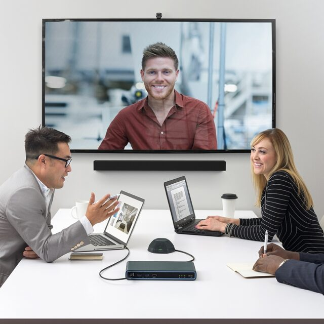 Business video conference meeting