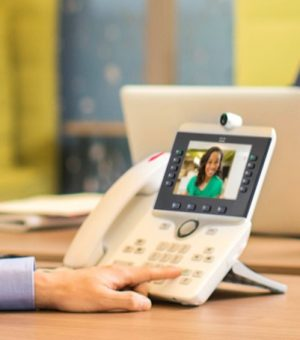 Cisco phone video call