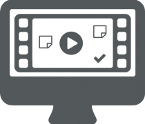 Computer video file icon