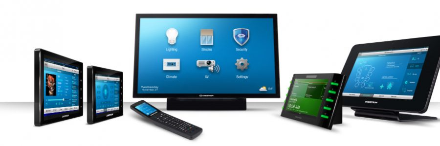 Crestron touch screen devices